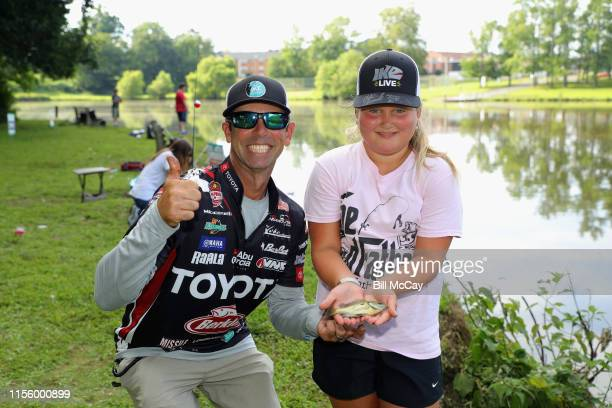 Mike Iaconelli and Carmella Cappolina attend the Gloucester County Chamber of Commerce Fish and Mingle with the Ike Foundation to promote youth...