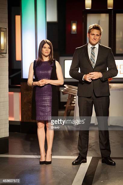 "Mike Isabella vs Antonia Lofaso"" Episode 103 -- Pictured: Gail Simmons, Curtis Stone --"