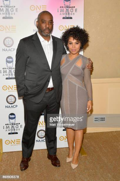 Mike Jackson and Amirah Vann attend the 49th NAACP Image Awards Nominees' Luncheon at The Beverly Hilton Hotel on December 16 2017 in Beverly Hills...