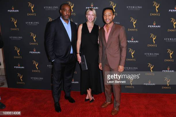 Mike Jackson Ty Stiklorius and John Legend attend the Television Academy Honors Emmy Nominated Producers at Montage Beverly Hills on September 14...