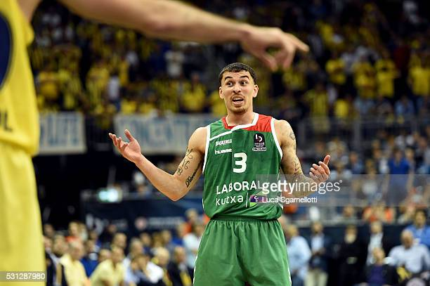 Mike James #3 of Laboral Kutxa Vitoria Gasteiz during Turkish Airlines Euroleague Final Four Berlin 2016 Semifinal 2 CSKA Moscow v Lokomotiv Kuban...