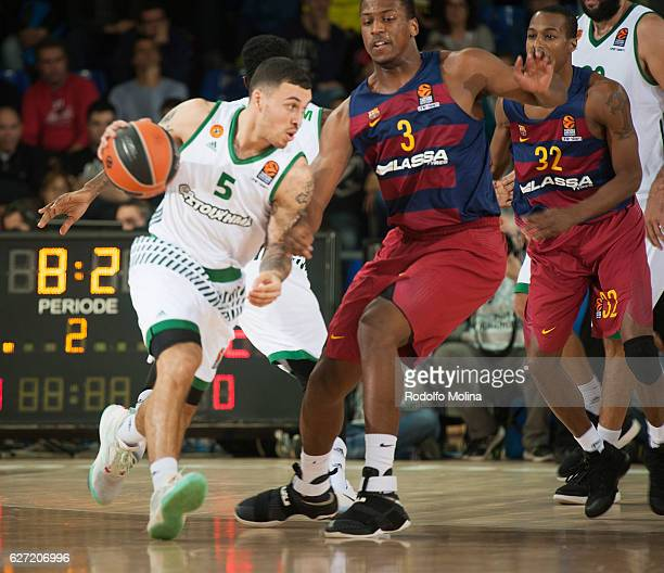 Mike James #5 of Panathinaikos Superfoods Athens in action during the 2016/2017 Turkish Airlines EuroLeague Regular Season Round 10 game between FC...