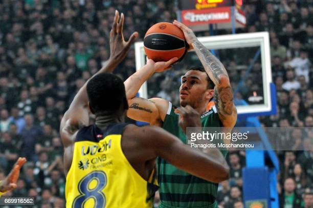 Mike James #5 of Panathinaikos Superfoods Athens in action during the 2016/2017 Turkish Airlines EuroLeague Playoffs leg 1 game between Panathinaikos...