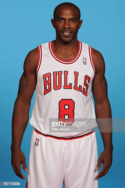 Mike James of the Chicago Bulls poses for a portrait during media day on September27 2013 at Berto Center in Deerfield Illinois NOTE TO USER User...
