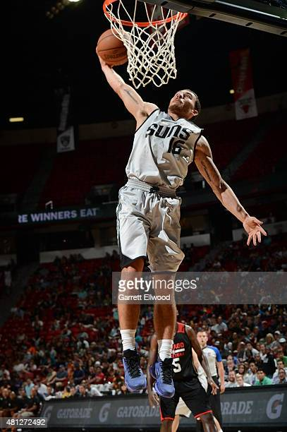 Mike James of the Phoenix Suns dunks against the Chicago Bulls during the game on July 18 2015 at Thomas And Mack Center Las Vegas Nevada NOTE TO...