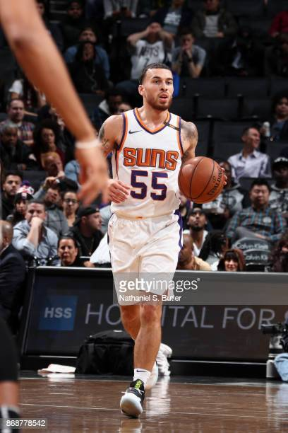 Mike James of the Phoenix Suns handles the ball against the Brooklyn Nets on October 31 2017 at Barclays Center in Brooklyn New York NOTE TO USER...