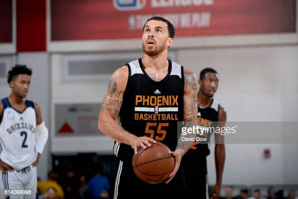 Mike James of the Phoenix Suns shoots a free throw during the game against the Memphis Grizzlies during the 2017 Las Vegas Summer League game on July...