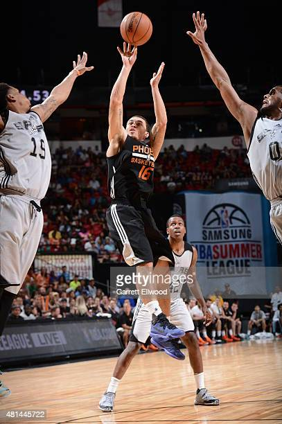 Mike James of the Phoenix Suns shoots against the San Antonio Spurs during the Las Vegas Summer League Championship on July 20 2015 at the Thomas...