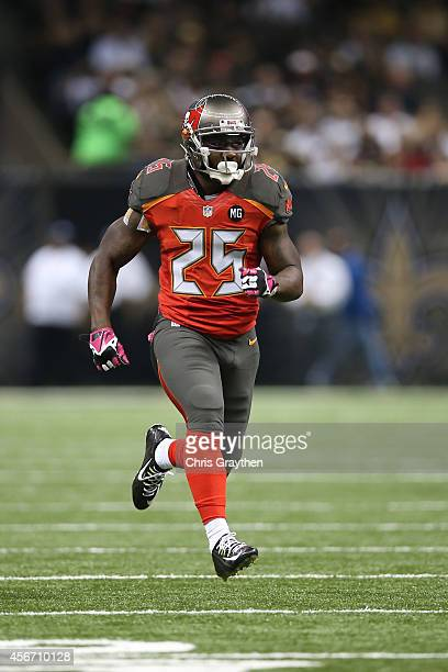 Mike James of the Tampa Bay Buccaneers against the New Orleans Saints at the MercedesBenz Superdome on October 5 2014 in New Orleans Louisiana