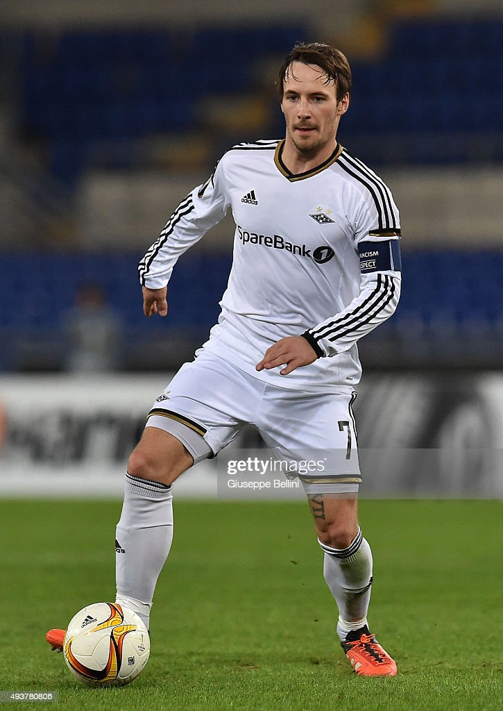 Mike Jensen of Rosenborg BK in action during the UEFA Europa League group G match between SS Lazio and Rosenborg BK at Stadio Olimpico on October 22, 2015 in Rome, Italy.
