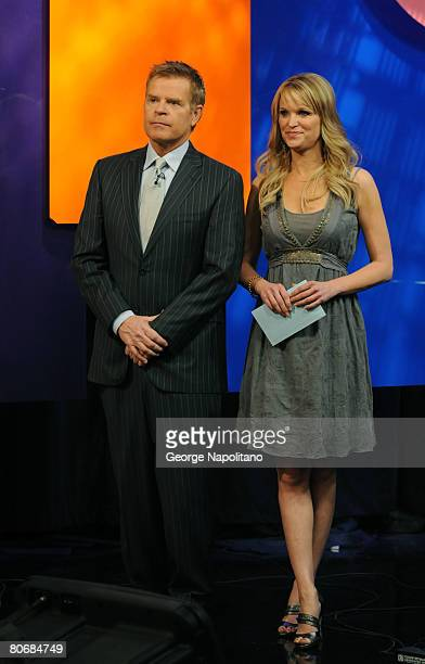 Mike Jerrick and Juliet Huddy on the set of the The Morning Show With Mike Juliet on April 15 2008 in New York City