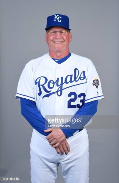 Mike Jirschele of the Kansas City Royals poses during Photo Day on Thursday February 22 2018 at Surprise Stadium in Surprise Arizona
