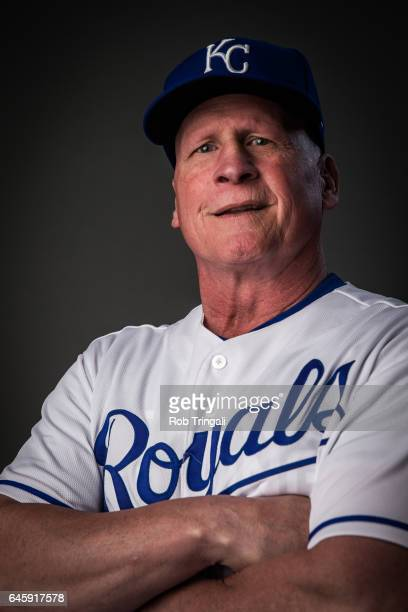 Mike Jirschele of the Kansas City Royals poses for a portrait at the Surprise Sports Complex on February 20 2017 in Surprise Arizona