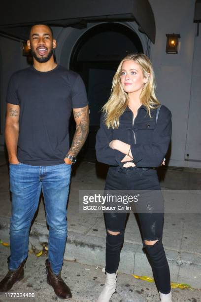 Mike Johnson and Hannah Godwin are seen on October 20 2019 in Los Angeles California