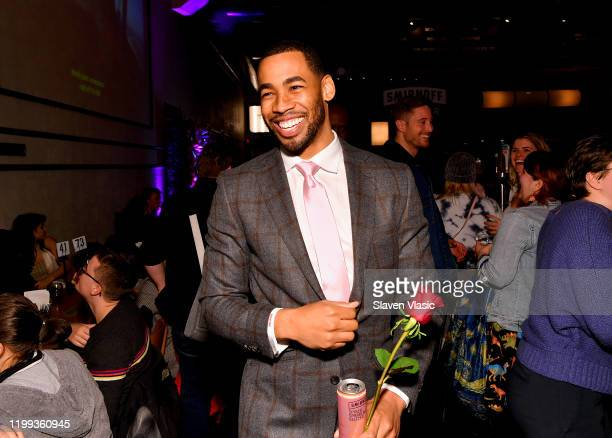 Mike Johnson joins Bachelor fans to watch episode 2 while sipping on his favorite Smirnoff Seltzer White Peach Rosè on January 13 2020 in Brooklyn...