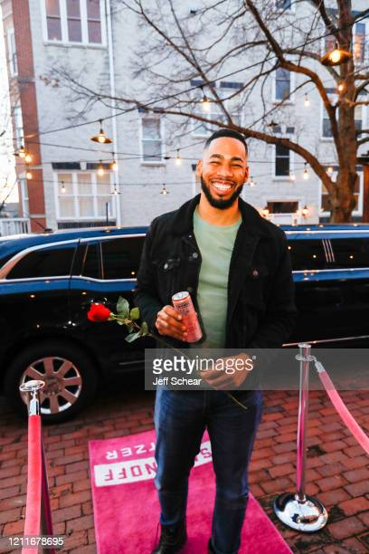 Mike Johnson surprises Bachelor super fans with Smirnoff Seltzer Rosés at a finale watch party on March 10 2020 in Chicago Illinois