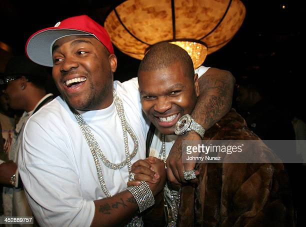 Mike Jones and J Prince during Kevin Liles AllStar Weekend Dinner February 18 2006 at Victor Anthony's Restaurant in Houston Texas United States