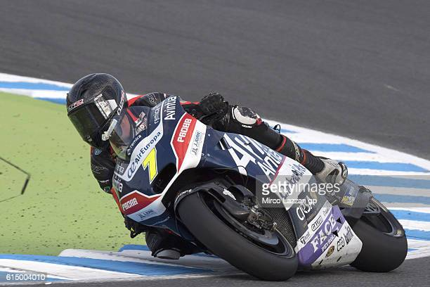 Mike Jones of Australia and Avintia Racing rounds the bend during the MotoGP race during the MotoGP of Japan Race at Twin Ring Motegi on October 16...