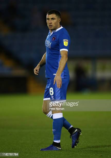 Mike Jones of Carlisle United in action during the Sky Bet League Two match between Carlisle United and Northampton Town at Brunton Park on October...