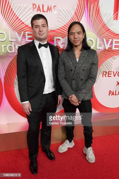 Mike Karanikolas and Michael Mente attend REVOLVE Presents The 2nd Annual #REVOLVEawards at Palms Casino Resort on November 9 2018 in Las Vegas Nevada