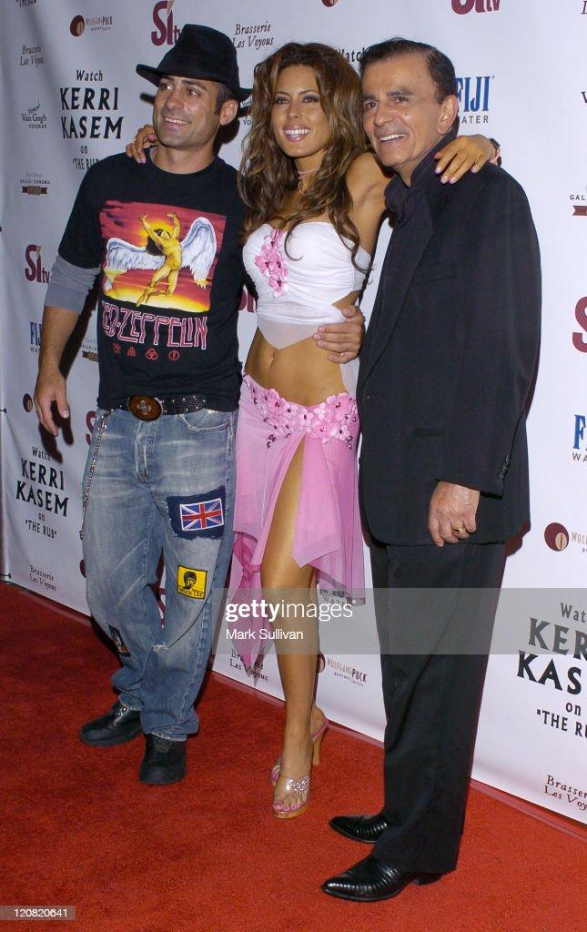 Mike Kasem, Kerri Kasem and Casey Kasem during Kerri Kasem Birthday Party at Brasserie Les Voyous in Hollywood, California, United States.