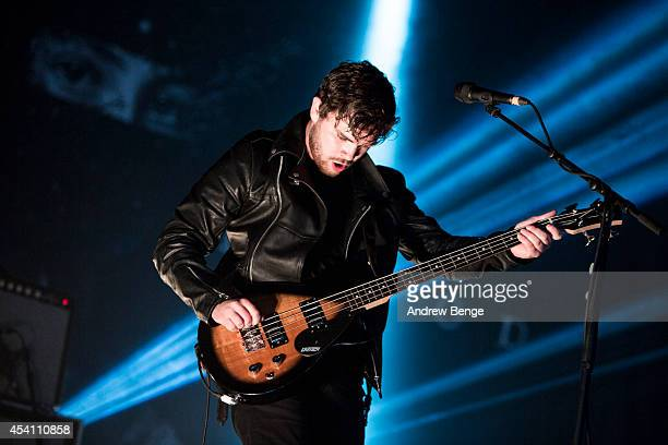 Mike Keer of Royal Blood performs on stage at Leeds Festival at Bramham Park on August 24 2014 in Leeds United Kingdom