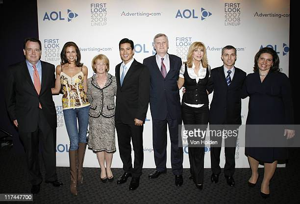 Mike Kelly President AOL Media Networks Brooke Burns Susan Falco Mario Lopez Mario Lopez Randy Falco AOL CEO Leeza Gibbons and Ron Grant AOL COO and...