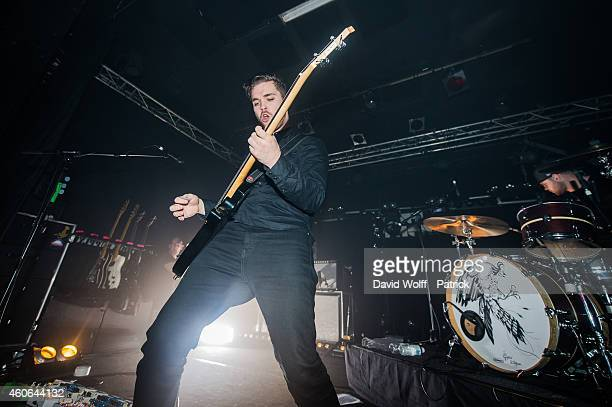Mike Kerr and Ben Thatcher from Royal Blood perform at Point Ephemere at on December 18 2014 in Paris France