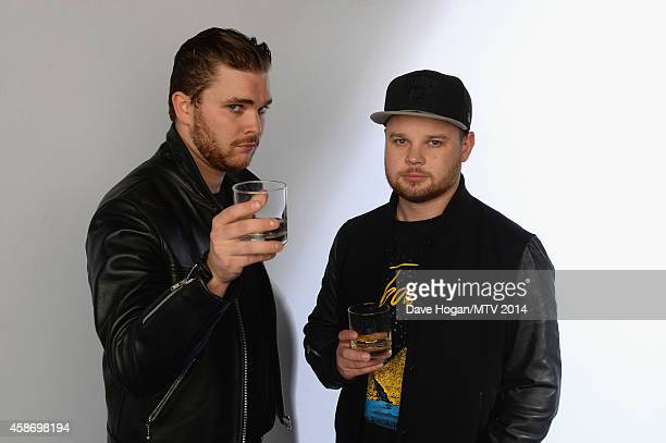 Mike Kerr and Ben Thatcher of Royal Blood attend the MTV EMA's 2014 at The Hydro on November 9 2014 in Glasgow Scotland