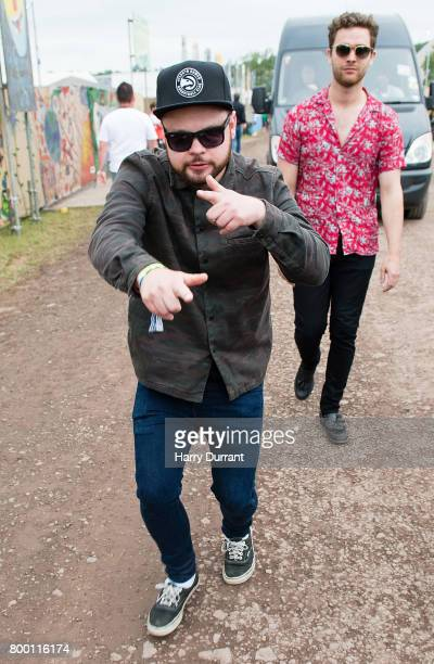Mike Kerr and Ben Thatcher of Royal Blood backstage on day 2 of the Glastonbury Festival 2017 at Worthy Farm Pilton on June 23 2017 in Glastonbury...