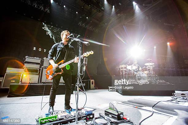 Mike Kerr and Ben Thatcher of Royal Blood perform at DTE Energy Music Theater on August 24 2015 in Clarkston Michigan