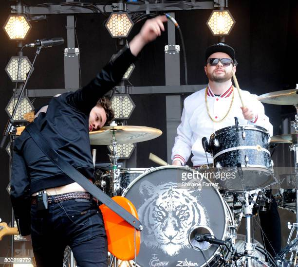 Mike Kerr and Ben Thatcher of Royal Blood perform on day 2 of the Glastonbury Festival 2017 at Worthy Farm Pilton on June 23 2017 in Glastonbury...