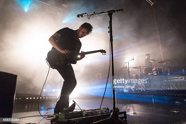 Mike Kerr and Ben Thatcher of Royal Blood perform on stage at The Ritz Manchester on November 2 2014 in Manchester United Kingdom