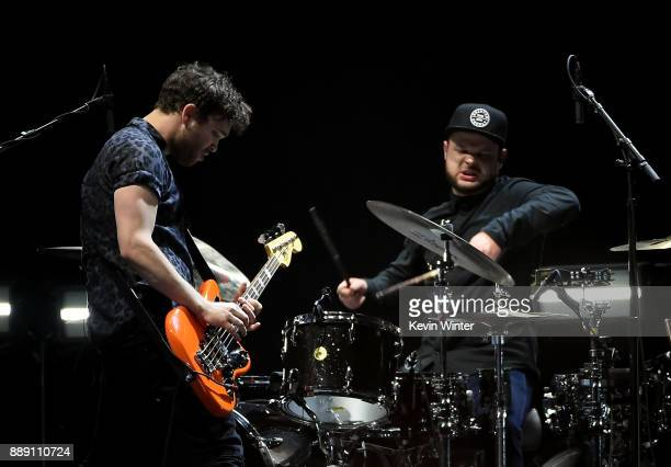 Mike Kerr and Ben Thatcher of Royal Blood perform onstage during KROQ Almost Acoustic Christmas 2017 at The Forum on December 9 2017 in Inglewood...