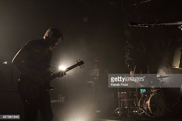 Mike Kerr and Ben Thatcher of Royal Blood performs on stage at The Academy on October 27, 2014 in Dublin, Ireland.