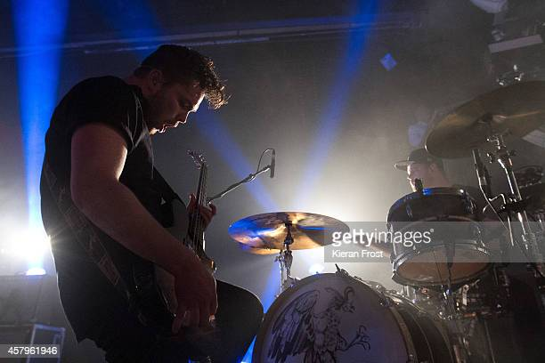 Mike Kerr and Ben Thatcher of Royal Blood performs on stage at The Academy on October 27 2014 in Dublin Ireland