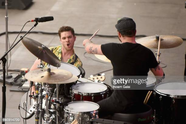 Mike Kerr and Ben Thatcher of Royal Blood performs onstage during the 2017 Governors Ball Music Festival Day 3 at Randall's Island on June 4 2017 in...