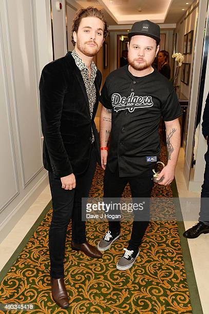 Mike Kerr and Ben Thatcher of Royal Blood winners of Best Live Act during the Q Awards at The Grosvenor House Hotel on October 19 2015 in London...