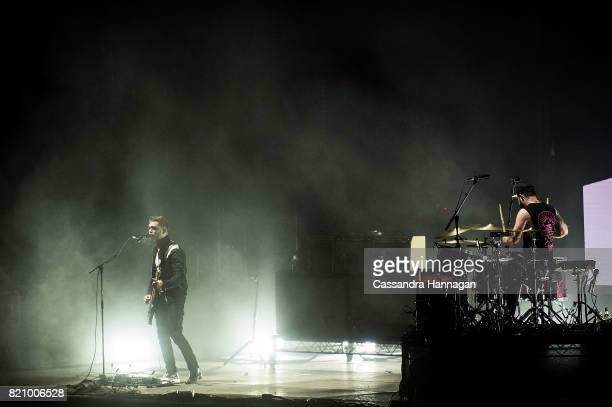 Mike Kerr and Ben Thatcher of the band Royal Blood perform during Splendour in the Grass 2017 on July 22 2017 in Byron Bay Australia