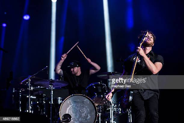 Mike Kerr and BenThatcher from Royal Blood performs at 2015 Rock in Rio on September 19 2015 in Rio de Janeiro Brazil