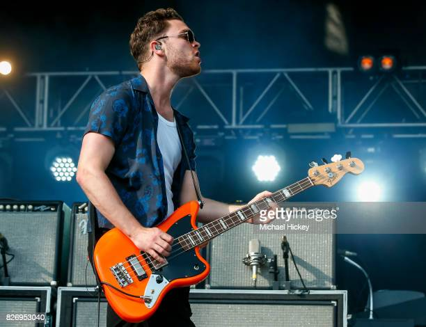 Mike Kerr of Royal Blood performs at Grant Park on August 5 2017 in Chicago Illinois