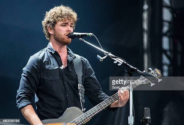 Mike Kerr of Royal Blood performs at the 2015 Festival D'ete De Quebec on July 11 2015 in Quebec City Canada