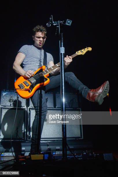 Mike Kerr of Royal Blood performs at the Logan Campbell Centre on May 1 2018 in Auckland New Zealand