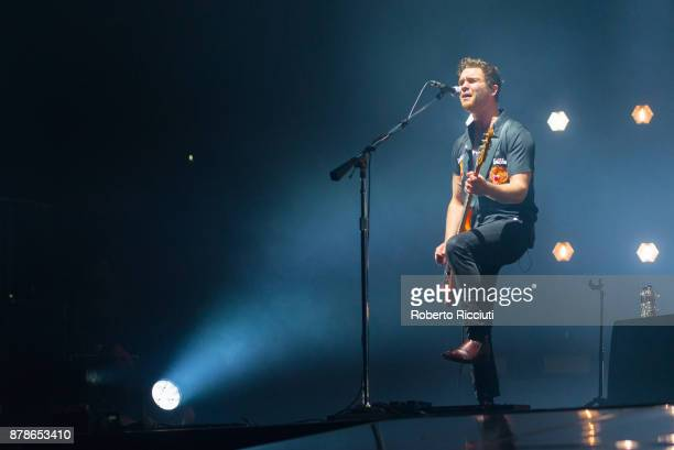 Mike Kerr of Royal Blood performs at The SSE Hydro on November 24 2017 in Glasgow Scotland