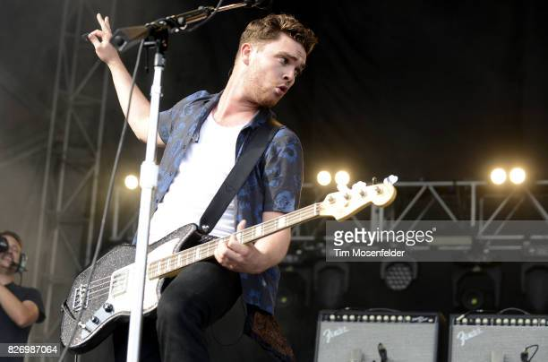Mike Kerr of Royal Blood performs during Lollapalooza 2017 at Grant Park on August 5 2017 in Chicago Illinois