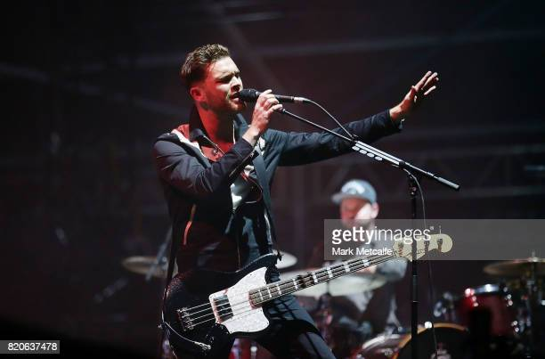Mike Kerr of Royal Blood performs during Splendour in the Grass 2017 on July 22 2017 in Byron Bay Australia