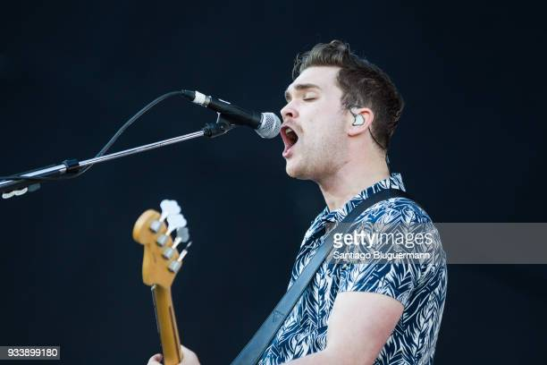 Mike Kerr of Royal Blood performs during the first day of Lollapalooza Buenos Aires 2018 at Hipodromo de San Isidro on March 16 2018 in Buenos Aires...