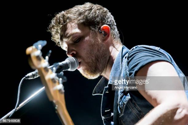 Mike Kerr of Royal Blood performs in concert on October 29 2017 in Madrid Spain