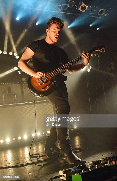 Mike Kerr of Royal Blood performs live on stage at Electric Ballroom on November 6 2014 in London United Kingdom