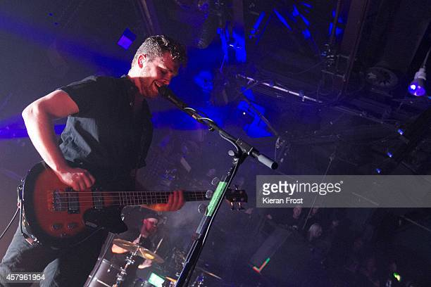 Mike Kerr of Royal Blood performs on stage at The Academy on October 27, 2014 in Dublin, Ireland.